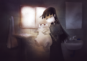 Creepy Cat 20 - Wrong Towel by CottonValent