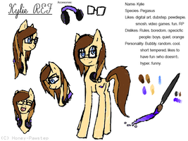 Kylie REF (me in pony form) by Honey-PawStep