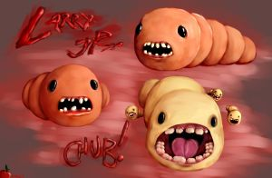 The Binding of Isaac: Larry Jr. and Chub by Apples-Malus