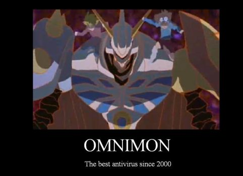 Omnimon motivational poster by Garret-07