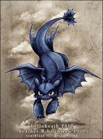 HTTYD Toothless Decends by HeatherHitchman