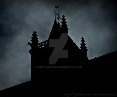 silhouette of a church by Gothicmama