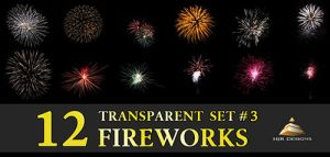 12 Transparent Fireworks Set 3 by HJR-Designs