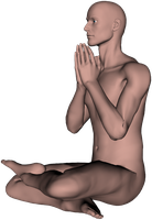 Zen Meditation Pose, Angle 4 by PyroNsanity-Stock