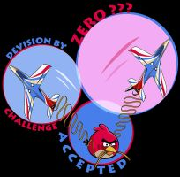 Angry bird challenge accepted t-shirt by Pepe09