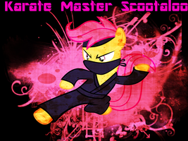 Karate Master Scootaloo by TagTeamCast