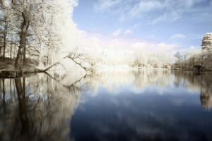 Dreamy Infrared Lake by lorni3