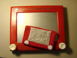 etch-a-sketch ipod cover by KitMcSmash