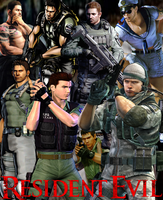 Resident Evil - Chris Redfield by DENDEROTTO
