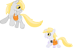 Derpy and Dinky by TwitchyTail