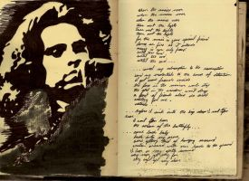 Jim Morrison Sketchbook Shrine by Mr-Hayami