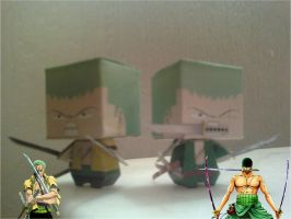 Roronoa Zoro Kobico Papercraft Finished by rubenimus21