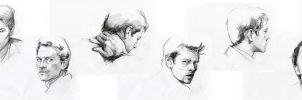 Castiel sketches by NamesroH