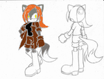 Sonic OC: Stacy the Coyote (in color) *redone* by MegaSpinosaur