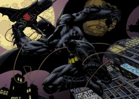 Batman-Dark knight 1 splash page by firepunk626