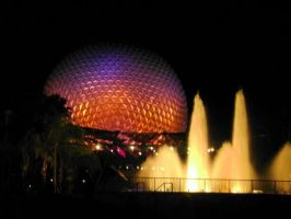 Epcot at Night by cgildea