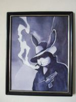 Noir Bun Painting by nienor
