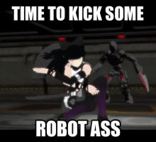 Kick Some Robot by dinochickrox
