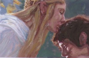 Galadriel with Frodo by tiddlywink