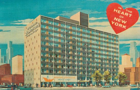 Vintage NYC Hotels - HoJo's Times Square by Yesterdays-Paper