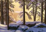 Winter forrest speedpaint by 1Rich1