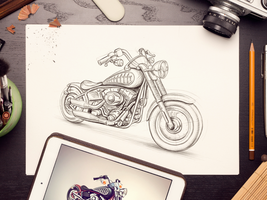 Motobike sketch by jossdiim