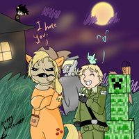 Scarecrow and Hatter Halloween by Flutter-Butter