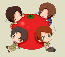 Chibi Italians [3,000+ page views and  55 Watch's] by Talawolf2014
