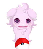 Shiny Espurr by LunaticLily13