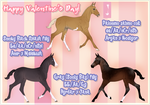 Valentine's Day foals  + HAPPY VALENTINE'S DAY!+ by jassukassu
