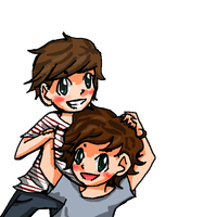 Harry+Louis by georgiatheninja