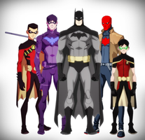 BatFamily - Young Justice Style by DraganD