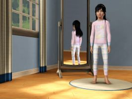 Sims 3 - Me in child form in night outfit 2 by Magic-Kristina-KW