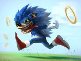 Sonic Doodle by Shabow