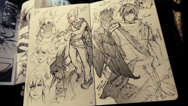Valley of the Gods Character Designs - Caio, Aaro by NesoKaiyoH