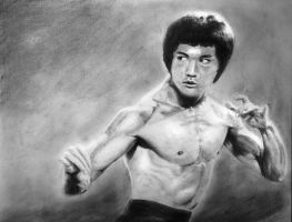 Bruce Lee by CarvinConcrete
