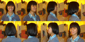 Me with my new fake short, bob hairstyle by Magic-Kristina-KW