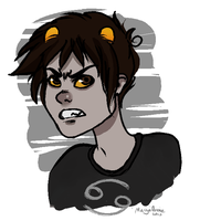 Karkat doodle by MasyaAnnie