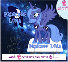 MLP Cut-Out Princess Luna by Jailboticus