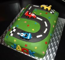 Racing Car Cake by sparks1992