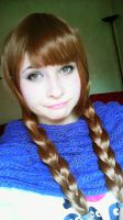 Anna - Frozen cosplay wig and make'up test by ChiruNoCosplay