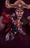Thor + Loki by SpiderGuile by StephenSchaffer