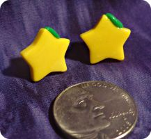 Kingdom Hearts Paopu Fruit Stud Earrings by TheGeekEmporium
