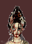 EPIC HAIR SERIES 5/5 : ZOMBIE by tea-bug