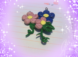 Cutesy Flower Charms by Sweet-Ribbons