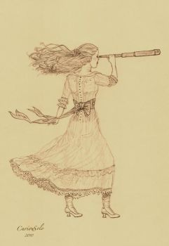Girl with a Spyglass by CuriouSolo