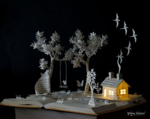Dont ever go Book Sculpture by MalenaValcarcel
