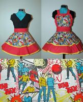 Star Trek Pop Art Apron Pinafore by DarlingArmy