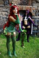 Poison Ivy-steampunk vers. (with The Huntress) by Daisy-Cos