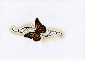 Butterfly Tattoo design by MadAssBabs